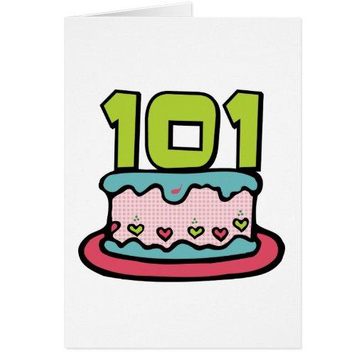 101 Year Old Birthday Cake Greeting Cards