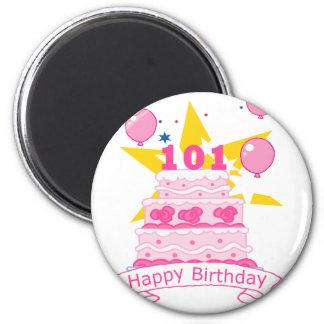 101 Year Old Birthday Cake Magnet