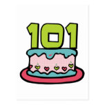 101 Year Old Birthday Cake Post Cards
