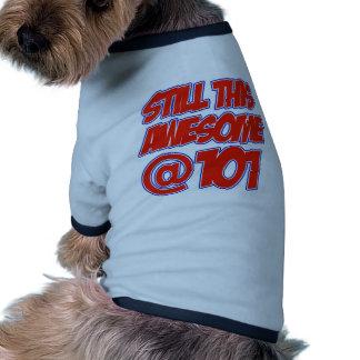 101 year old designs pet tee shirt