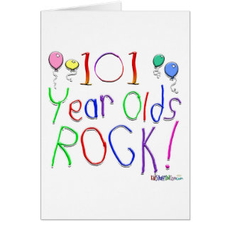 101 Year Olds Rock! Greeting Card