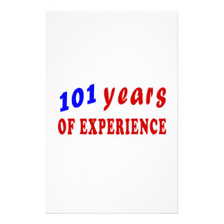 101 years of experience stationery