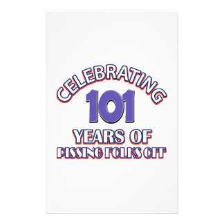 101 years of raising hell stationery