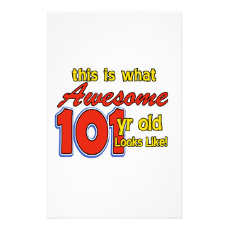 101 YEARS OLD BIRTHDAY DESIGNS STATIONERY