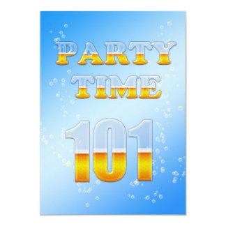 101a invitación de la fiesta de cumpleaños con la