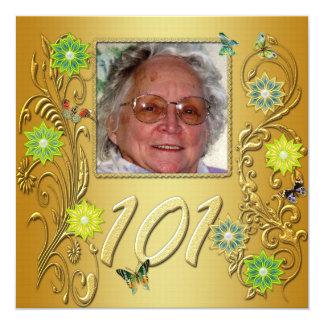 101a invitación de la fiesta de cumpleaños del