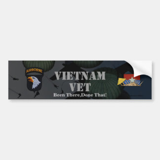 101a pegatina para el parachoques de Vietnam de la Etiqueta De Parachoque