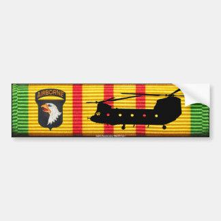 101o Abne. Pegatina para el parachoques de Div.CH- Pegatina De Parachoque