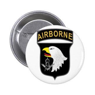 101o Aerotransportado Pin Redondo De 2 Pulgadas