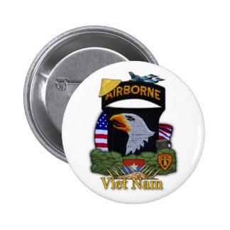 101o botón de la guerra de Vietnam de la división  Pin Redondo De 2 Pulgadas