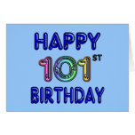 101o cumpleaños feliz tarjetas