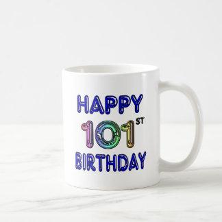 101o cumpleaños feliz taza clásica