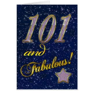 101o cumpleaños para alguien fabuloso tarjeta de felicitación