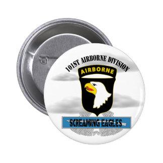 """101o División aerotransportada de """"Eagles griterío Pin Redondo De 2 Pulgadas"""