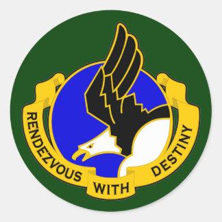 101o División aerotransportada DUI Pegatina Redonda