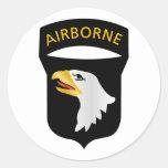 101o División aerotransportada Pegatina Redonda