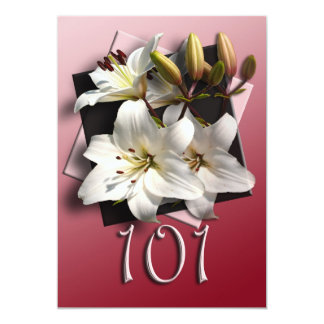 101o Invitación de la fiesta de cumpleaños