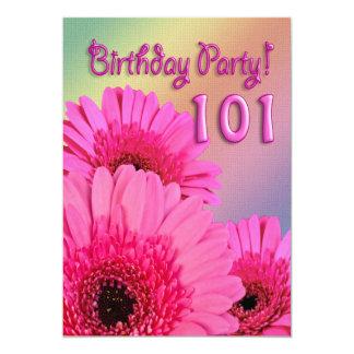 101o Invitación de la fiesta de cumpleaños con las