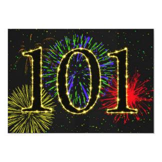 """101o invitate de la fiesta de cumpleaños invitación 5"""" x 7"""""""