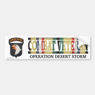 101o La SWA de la división aerotransportada combat Pegatina De Parachoque