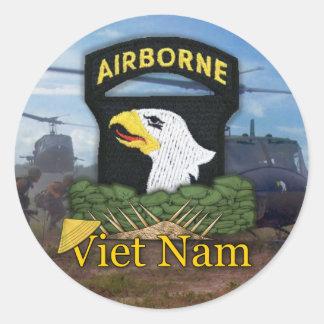 101o pegatina de Vietnam de los veteranos de la di