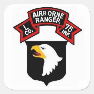 101o Pegatinas del GUARDABOSQUES Airborne L Pegatina Cuadrada