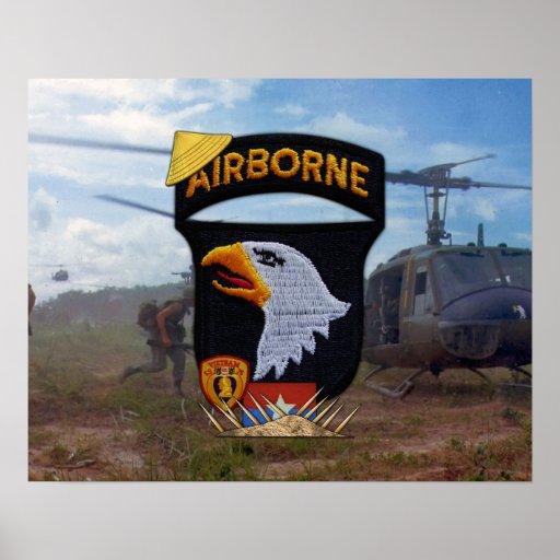 101o Poster del remiendo de Nam de la división aer