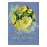 101o Primaveras y azul del cumpleaños Felicitación