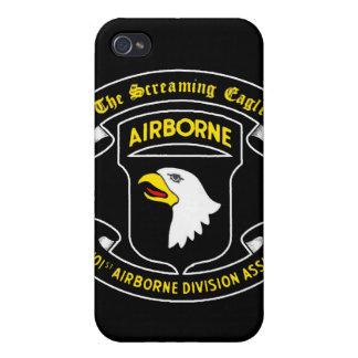 101o Remiendo de griterío aerotransportado de Eagl iPhone 4 Carcasas