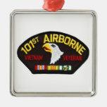 101o Veterano aerotransportado de Vietnam Adorno Cuadrado Plateado