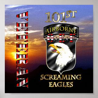 101o Veterano de la división aerotransportada OEF Póster