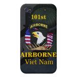 101os veteranos Ca de Vietnam de la división aerot iPhone 4 Cárcasas