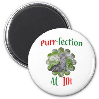 101Purr-fection 2 Inch Round Magnet