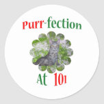 101Purr-fection Pegatina Redonda