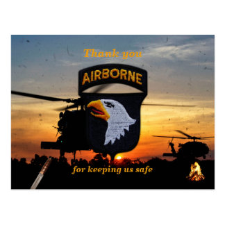 101st ABN DIV airborne screaming eagles vets patch Postcard
