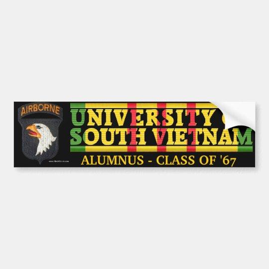 101st Abne Div U of South Vietnam Alumnus Sticker
