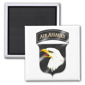 101st Air Assault 2 Inch Square Magnet
