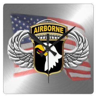 "101st Airborne 10.75"" Square Wallclocks"