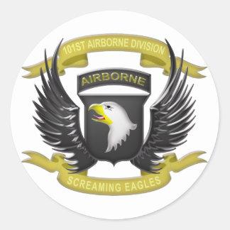 101st Airborne 3D Classic Round Sticker