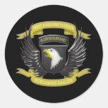 101st Airborne 3D Round Stickers