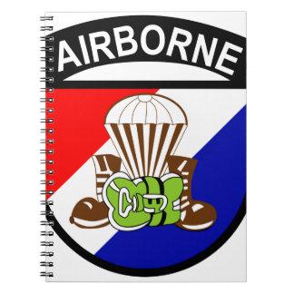 101st AIRBORNE, AIRBORNE, ARMY, PARACHUTIST, MILIT Spiral Note Book