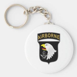 101st Airborne Basic Round Button Keychain