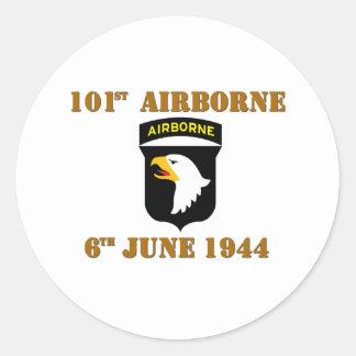 101st Airborne D-Day Normandy Classic Round Sticker
