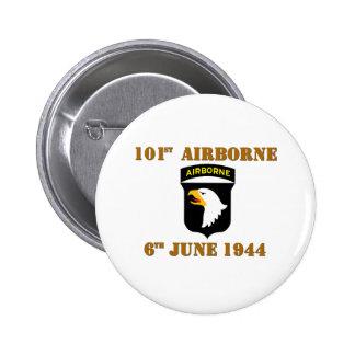 101st Airborne D-Day Normandy Pin Redondo De 2 Pulgadas