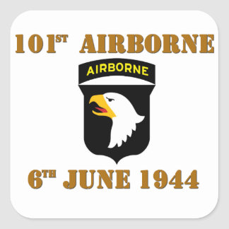 101st Airborne D-Day Normandy Square Sticker