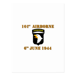 101st Airborne D-Day Normandy Tarjeta Postal