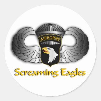 101st Airborne Division Classic Round Sticker