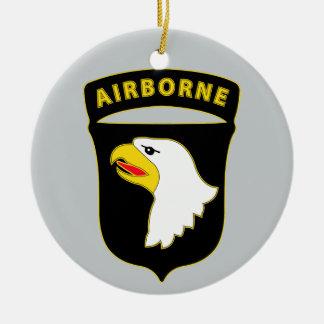 101st Airborne Division - Combat Service Ceramic Ornament