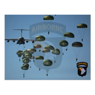 101st airborne division nam patch post cards