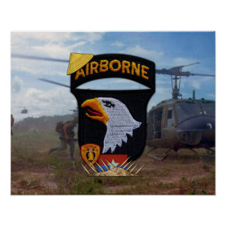 101st Airborne Division Nam Patch Poster Print